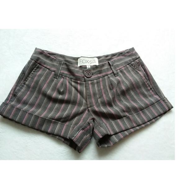 Fox Pants - 🛍 Fox girls striped shorts
